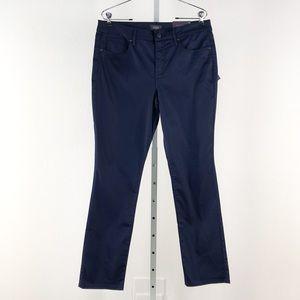 NYDJ Navy Sheri Slim Pants, Size 12